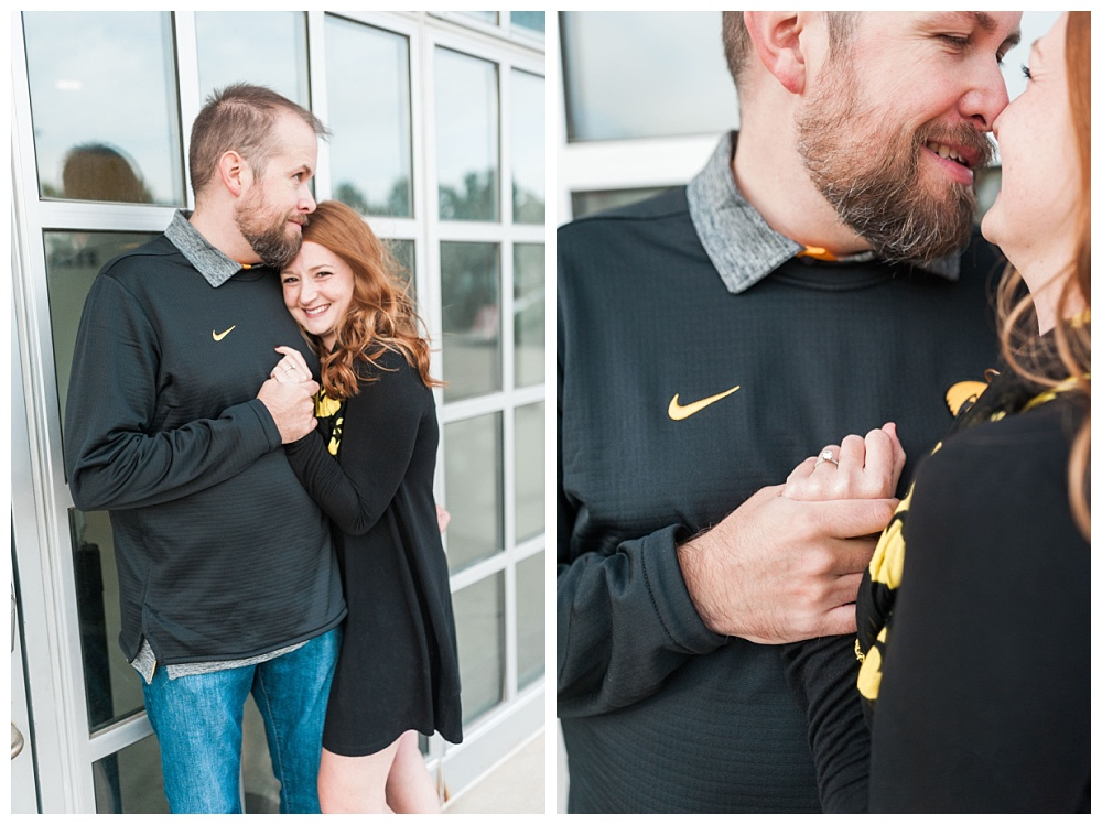 Stephanie Marie Photography Kinnick Stadium Engagement Session Iowa City Wedding Photographer Emily Brian_0022.jpg