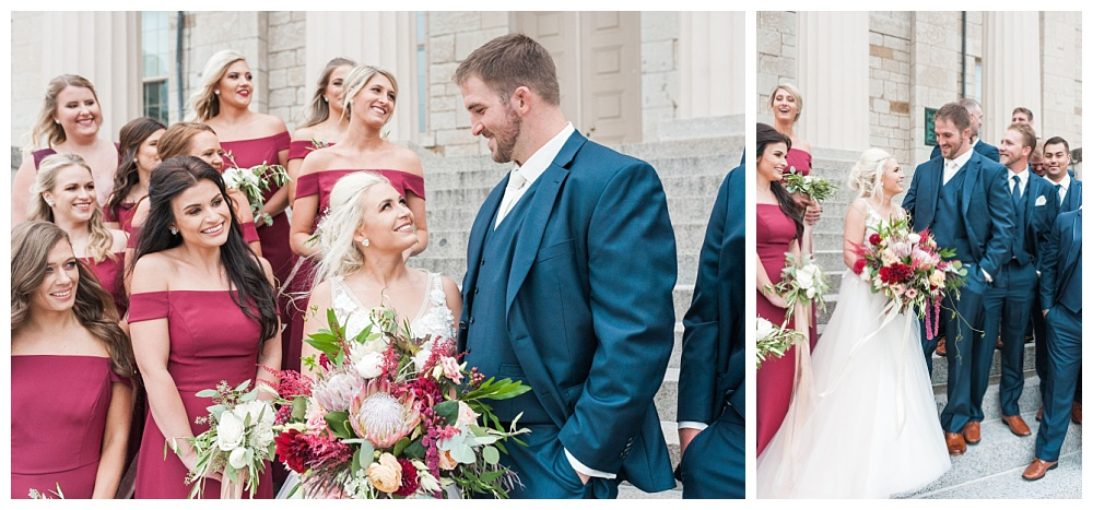 Stephanie Marie Photography Saint Marys Catholic Church Bella Sala Wedding Iowa City Tiffin Wedding Photographer Alex Bobby Telford_0026.jpg