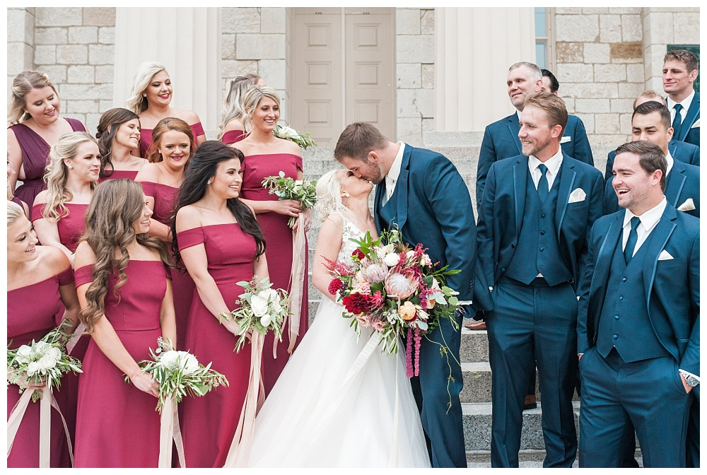 Stephanie Marie Photography Saint Marys Catholic Church Bella Sala Wedding Iowa City Tiffin Wedding Photographer Alex Bobby Telford_0027.jpg