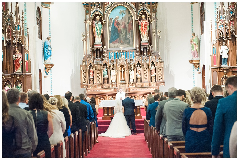 Stephanie Marie Photography Saint Marys Catholic Church Bella Sala Wedding Iowa City Tiffin Wedding Photographer Alex Bobby Telford_0035.jpg