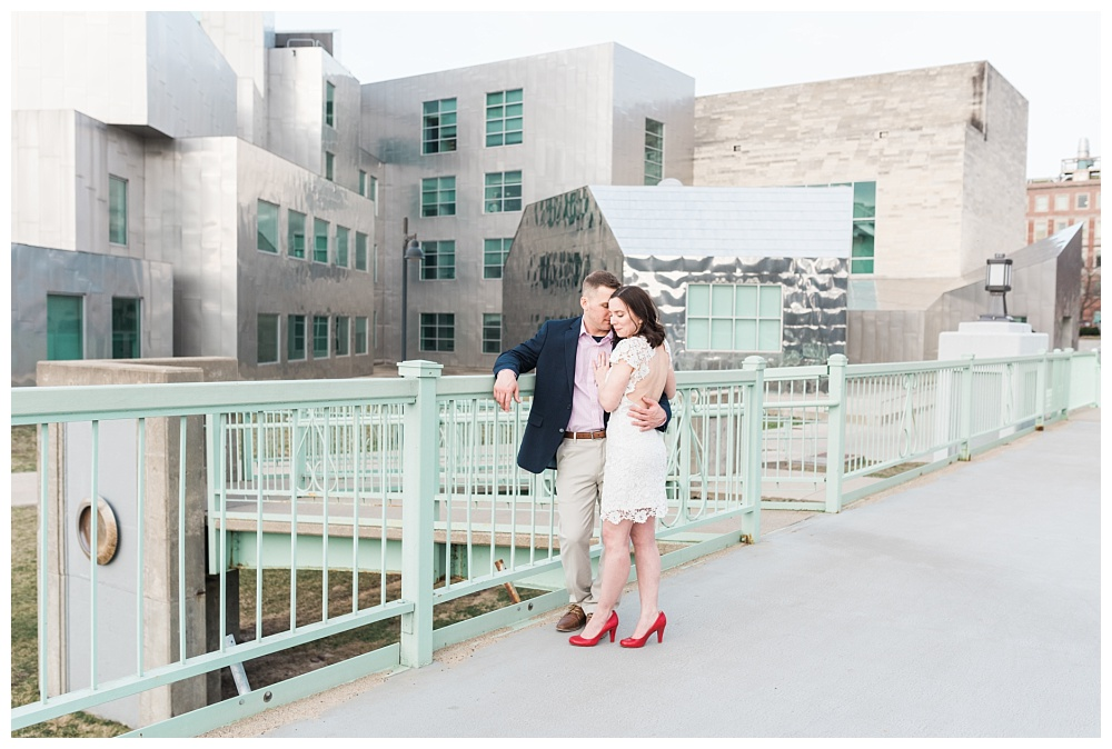 Stephanie Marie Photography IMU Building Engagement Session Iowa City Wedding Photographer Jen Nick_0020.jpg