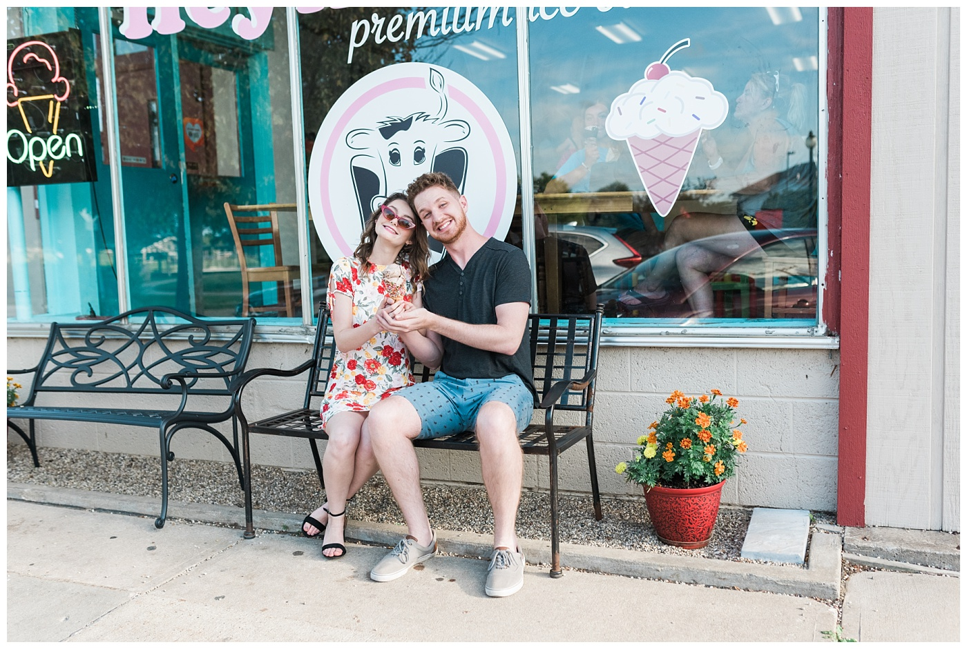 Stephanie Marie Photography Labor for Love Downtown North Liberty Engagement Session Iowa City Wedding Photographer Devin Cody_0003.jpg