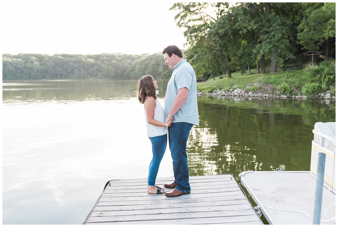 Stephanie Marie Photography Lake McBride Engagement Session Dubuque Iowa City Wedding Photographer Morgan Lucas_0005-1.jpg