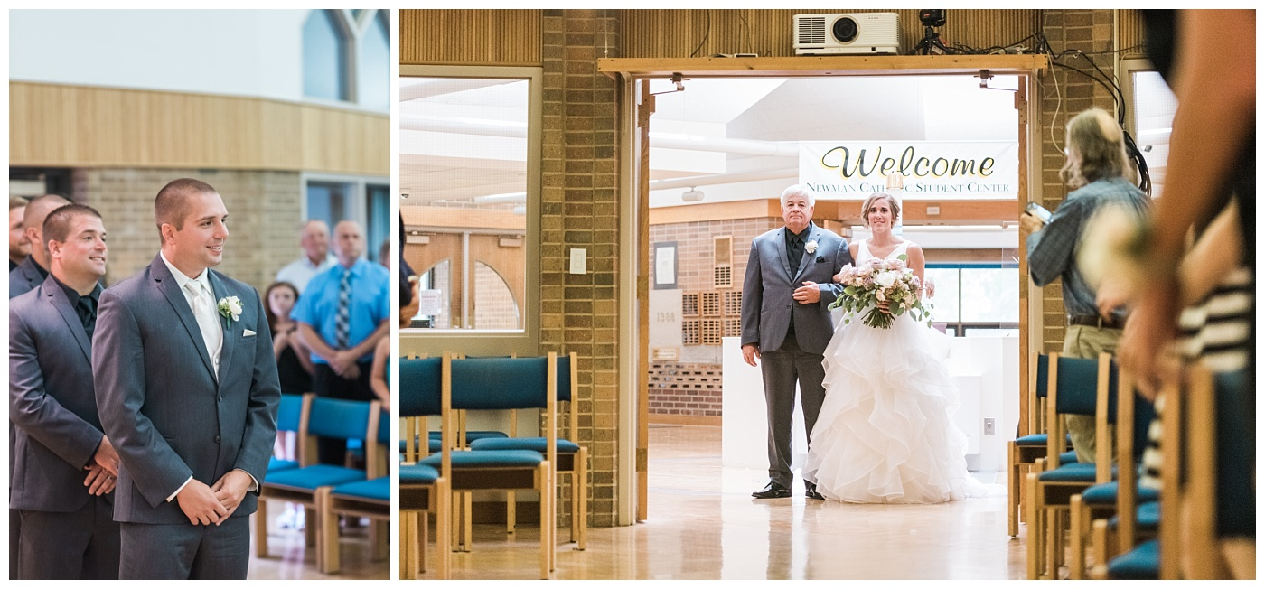 Stephanie Marie Photography Newman Catholic Center Ceremony Bella Sala Reception Tiffin Iowa City Wedding Photographer Chelsey Justin Meyers_0022-1.jpg